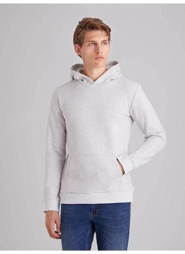 Dufy Düz Erkek Sweatshirt - Regular Fit Gri